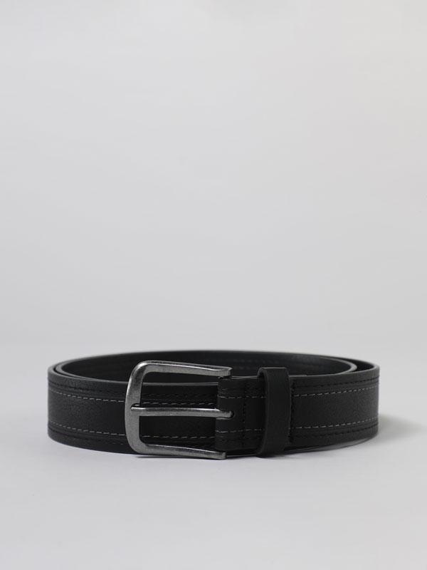 Basic belt with stitching