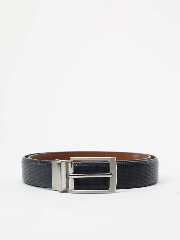 Reversible micro-topstitched belt