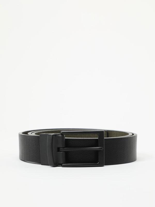 Reversible double texture belt