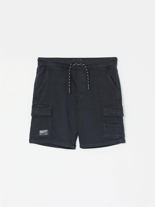Cargo jogger Bermuda shorts