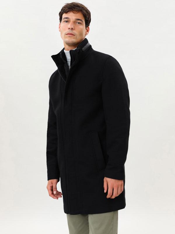 Coat with inner gilet
