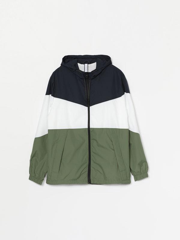 Lightweight colour block jacket