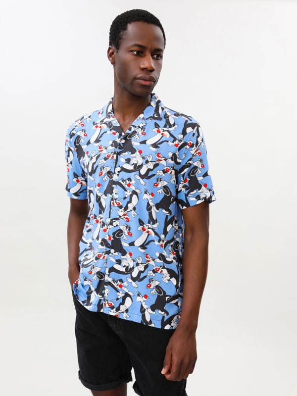 Silvester Looney Tunes © &™ WARNER BROS print shirt