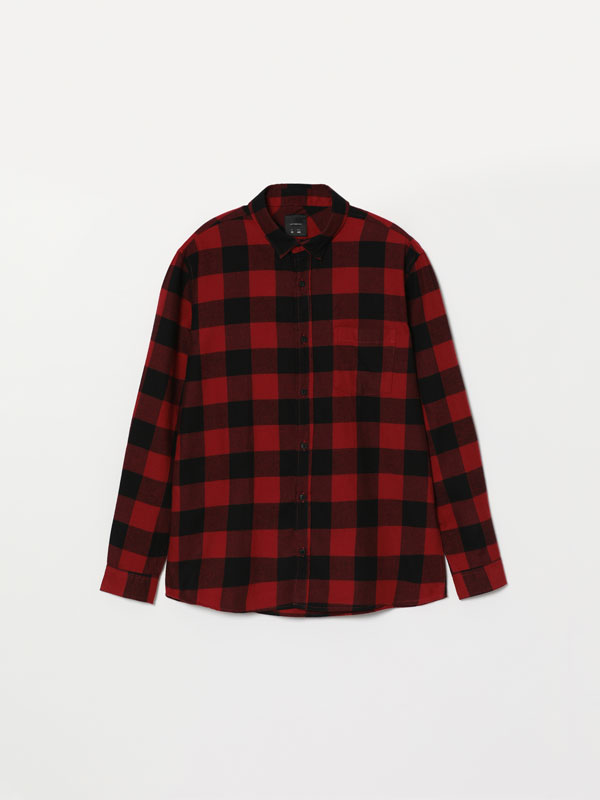 Chequered flannel shirt