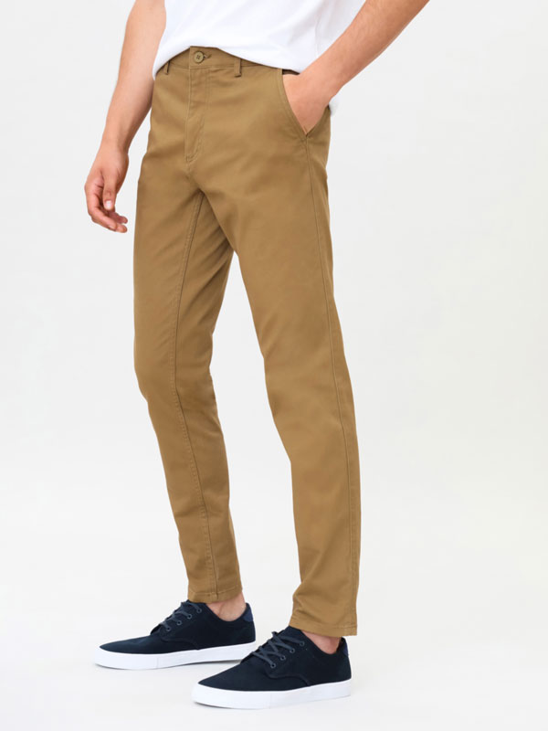 Comfort skinny fit chino trousers