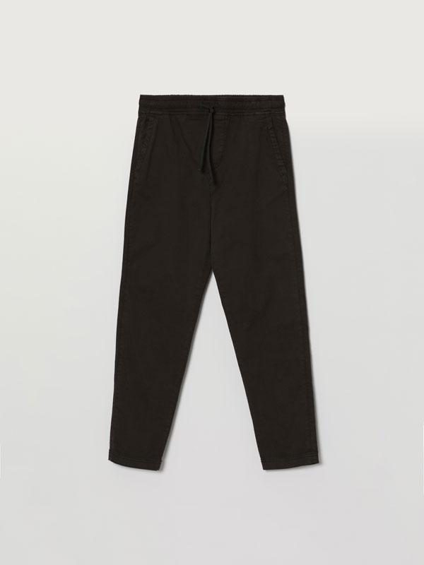 Calças com cintura jogger comfort