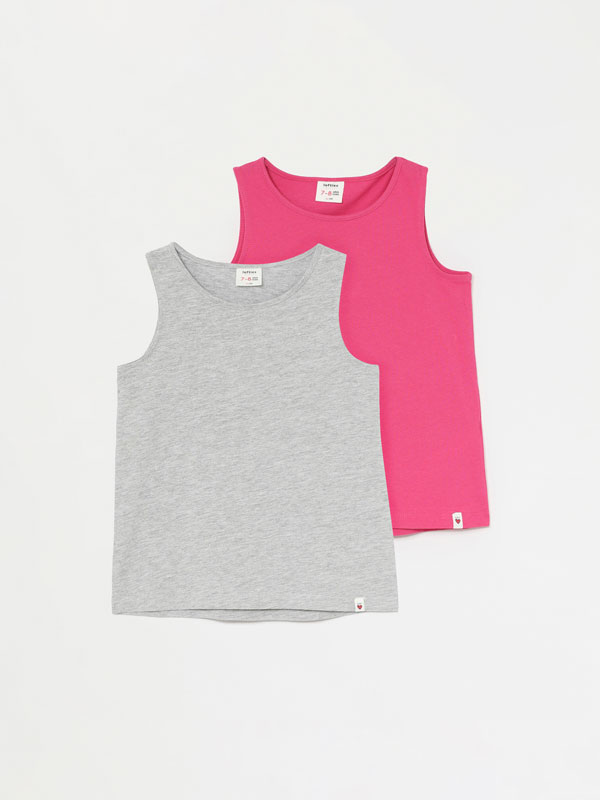 2-Pack of basic strappy tops