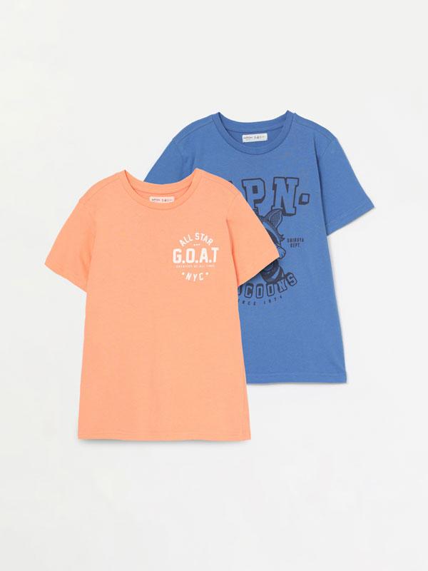 Pack de 2 samarretes estampades