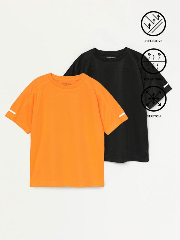 Pack de 2 samarretes esportives transpirables