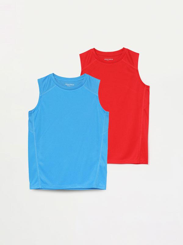 Pack de 2 samarretes esportives