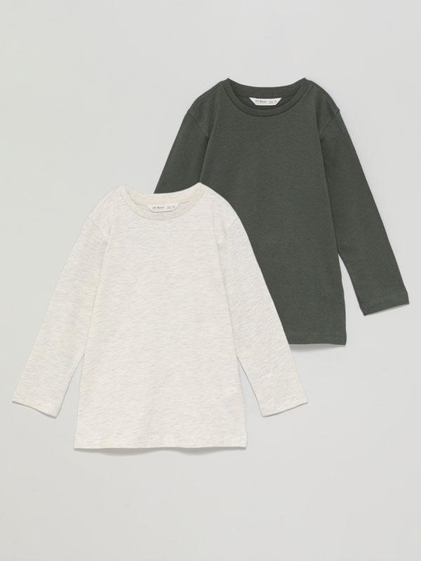 2-Pack of basic long sleeve T-shirts