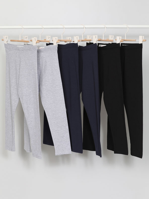 Paquet de 6 leggings llargs bàsics