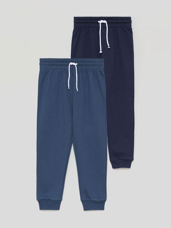 Pack de 4 calças de felpa básicas
