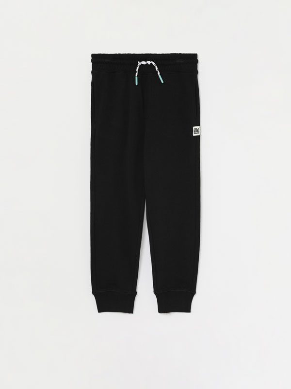 Basic plush trousers with pockets