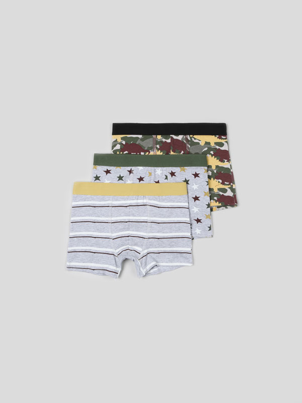 3-PACK OF PRINTED BOXER SHORTS