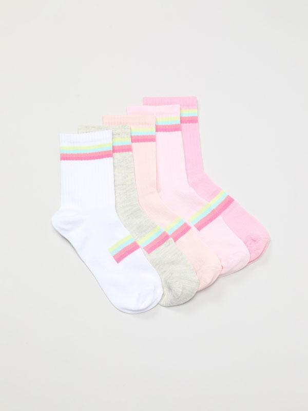 Pack de 5 pares de meias desportivas