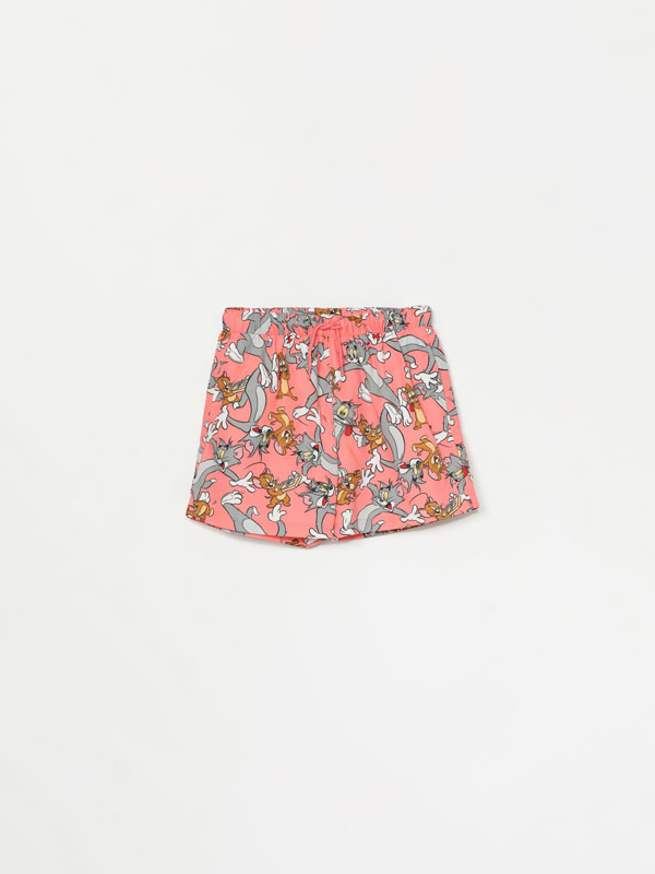 Tom & Jerry © & ™ WBEI print swimming trunks