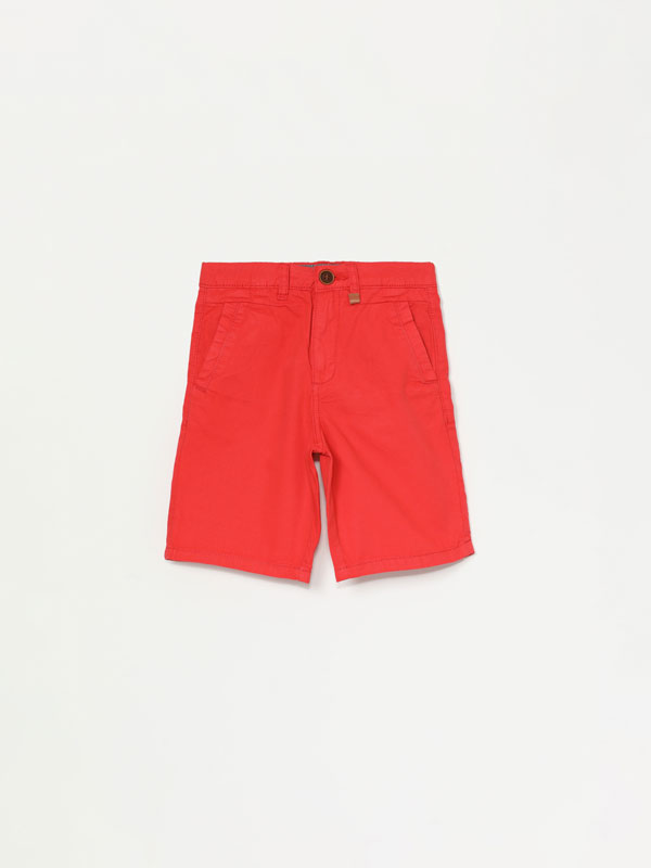 Basic Chino Bermuda Shorts