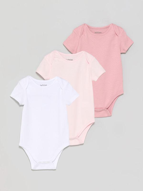 Pack of 3 basic short sleeve bodysuits