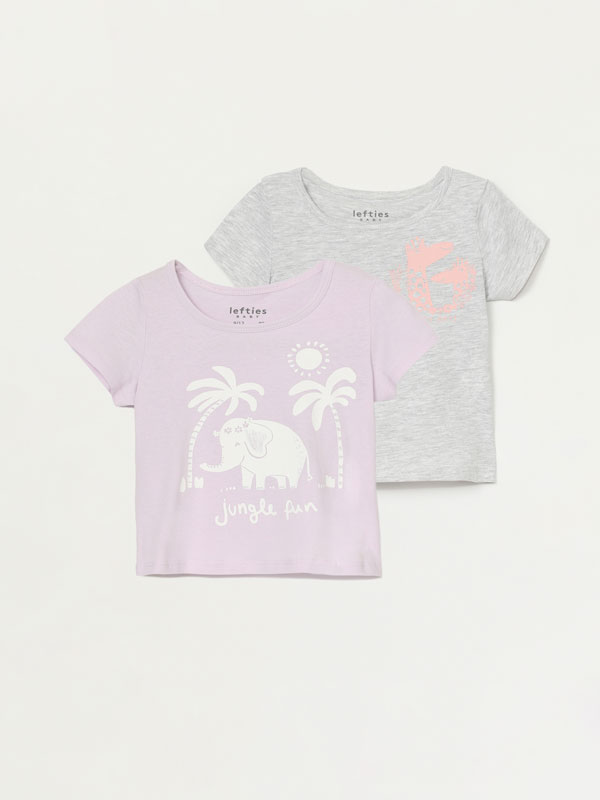 2-pack of printed t-shirts