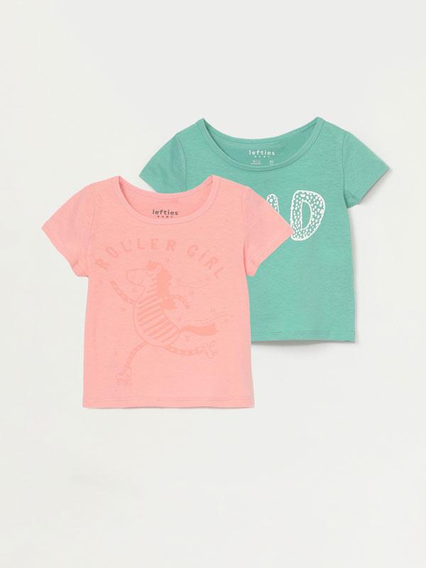 Pack de 2 camisetas estampadas