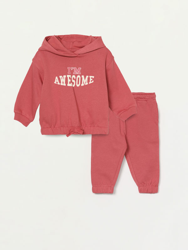 2-piece hoodie and bottoms set