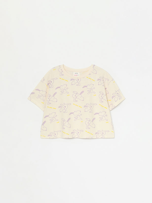 SNOOPY PEANUTS™ CROPPED T-SHIRT