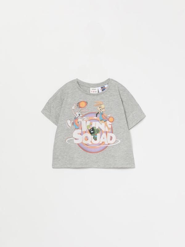 Space Jam Looney Tunes © &™ WARNER BROS. short sleeve cropped T-shirt