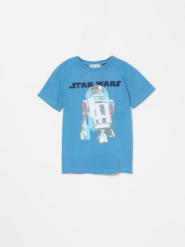 Samarreta efecte rentat amb estampat de Star Wars