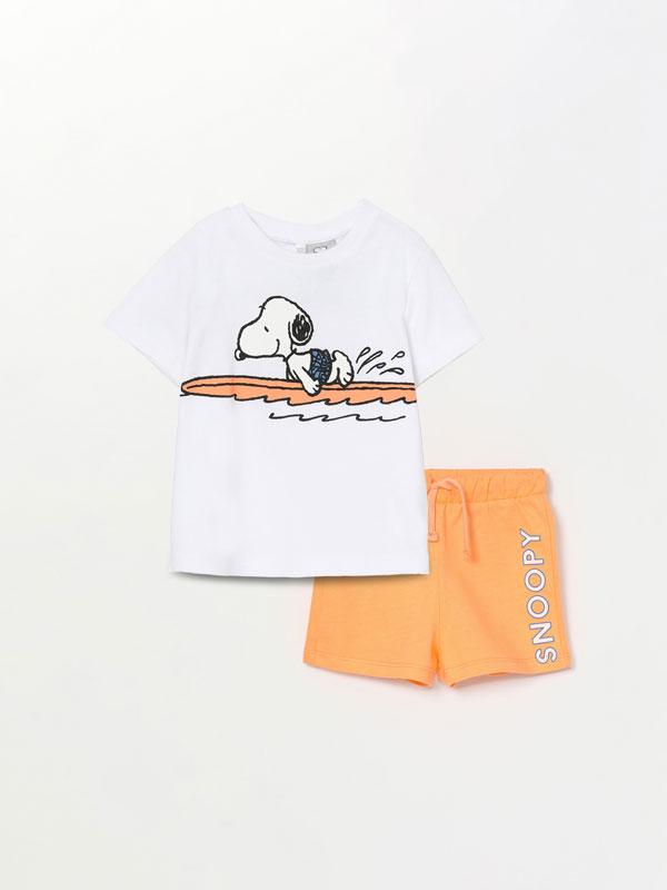 Snoopy Peanuts™ T-shirt and Bermuda shorts set