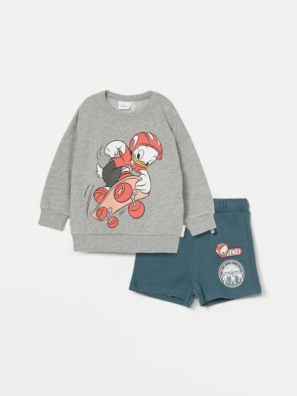 Donald Duck ©Disney sweatshirt and Bermuda shorts set