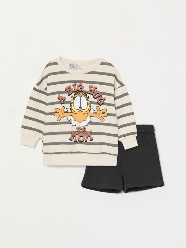 Garfield ©Nickelodeon sweatshirt and Bermuda shorts set