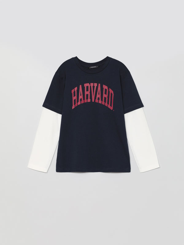 Long sleeve T-shirt with a Harvard ® University print