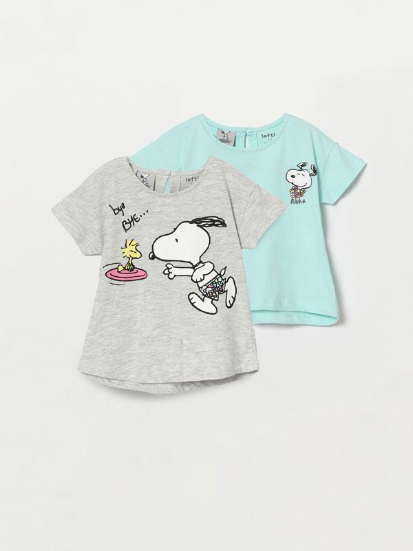 Pack de 2 camisetas de manga curta de Snoopy - Peanuts™