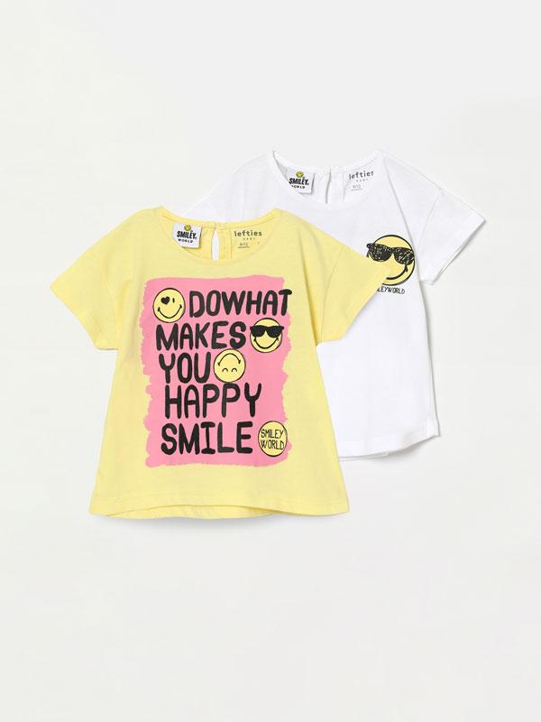 Pack de 2 camisetas de manga curta de SmileyWorld®