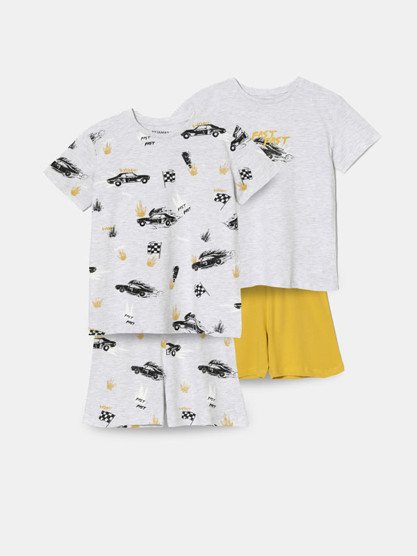 Pijama konjunto estanpatuak, 2ko paketea