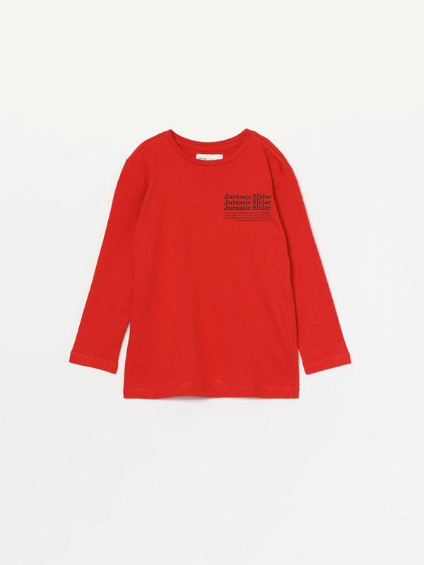 T-shirt de manga comprida estampada