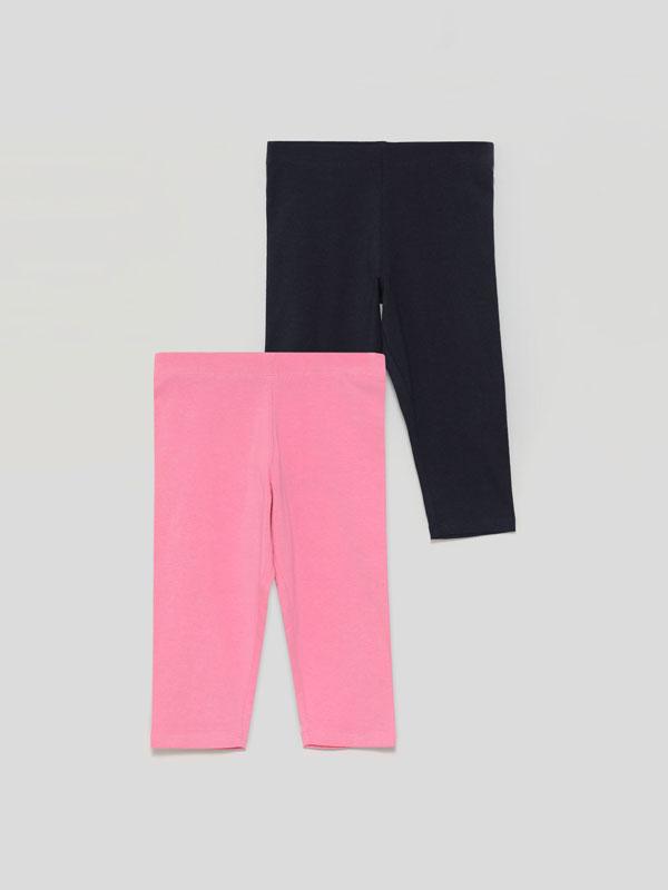 2-Pack of basic capri leggings