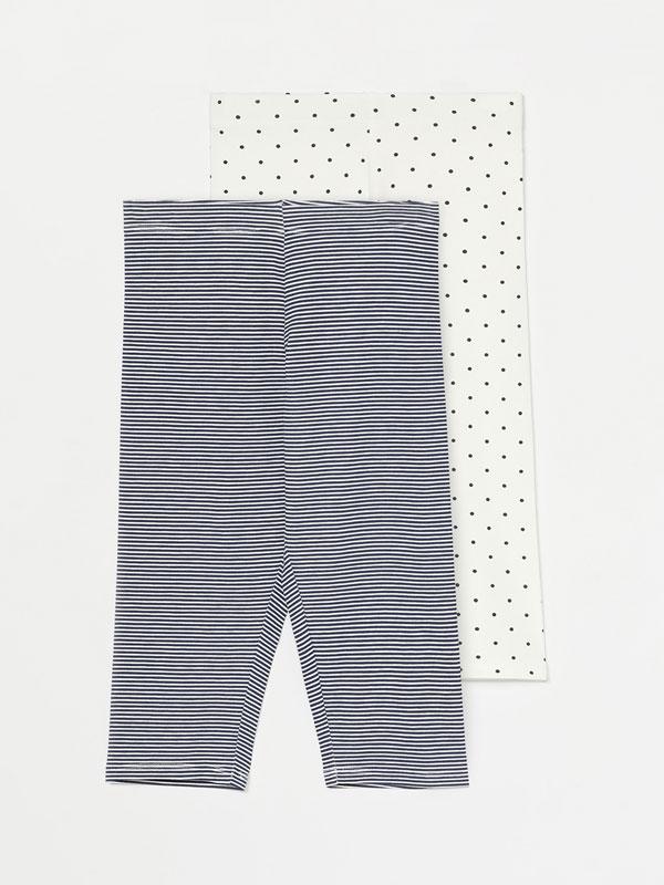 2-Pack of printed capri leggings