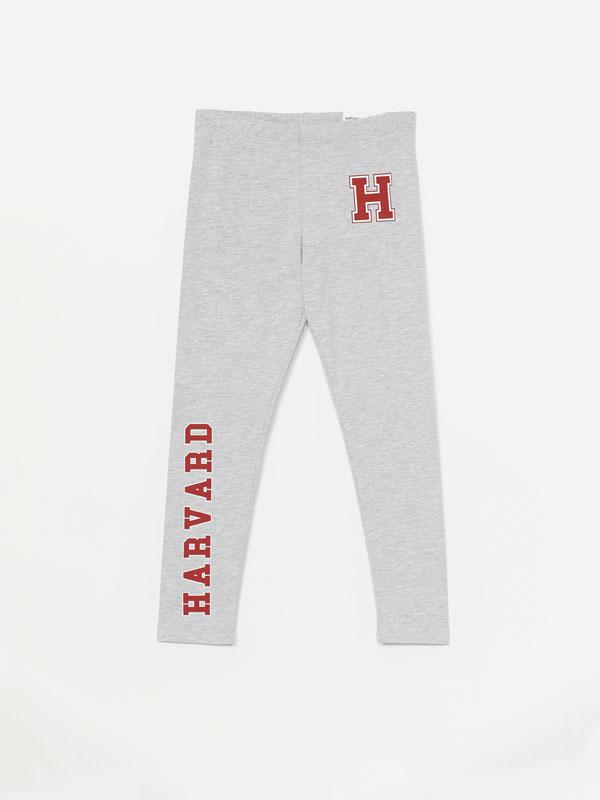 Harvard Slogan print leggings