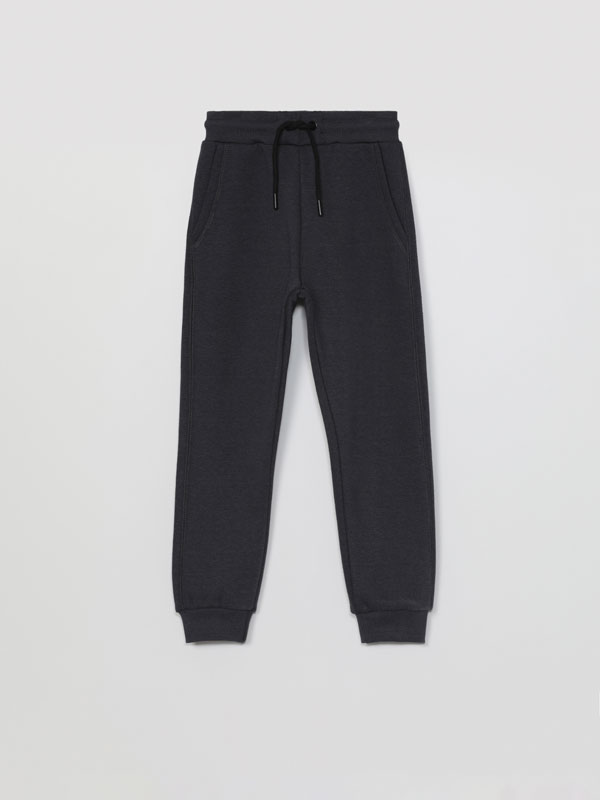 Plush trousers with pockets