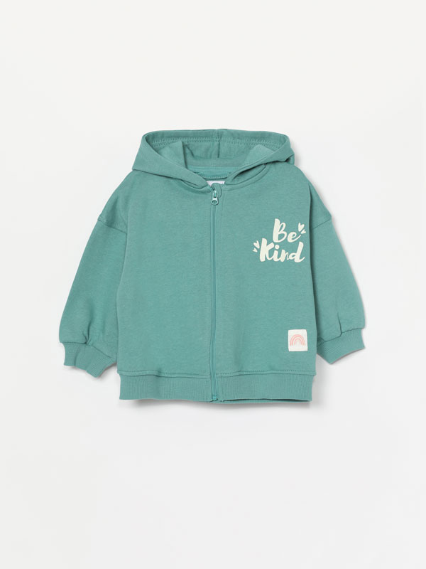 Plush jacket with hood