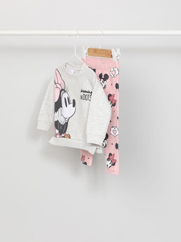 Minnie ©Disney sweatshirt and leggings set.