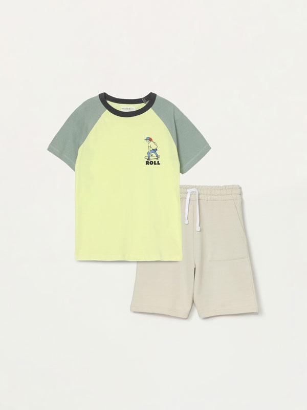 Conjunto de camiseta y bermuda de 2 piezas