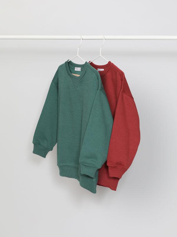 Pack of 2 basic plain sweatshirts