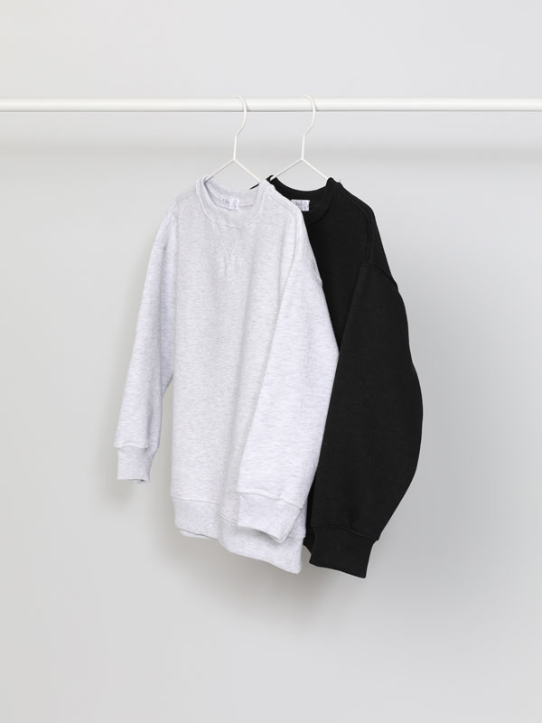 Pack de 2 sweatshirts básicas lisas