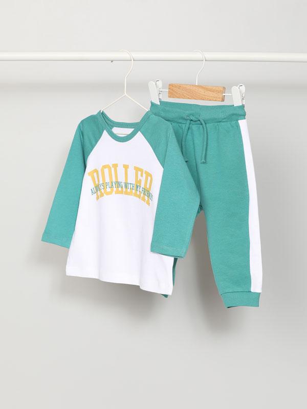 2-piece T-shirt and bottoms set