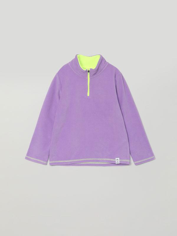 Fleece with zip