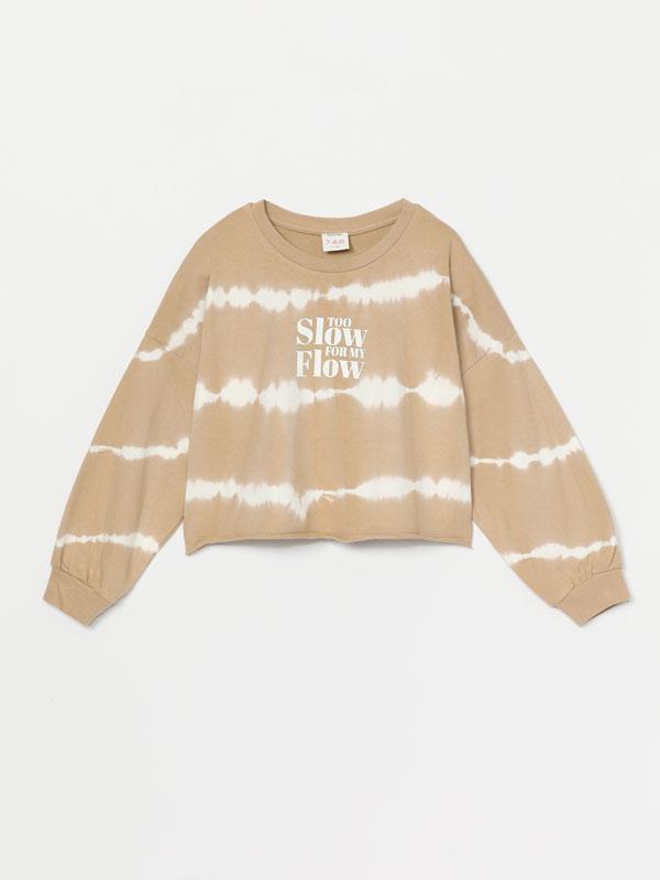 Tie-dye cropped sweatshirt