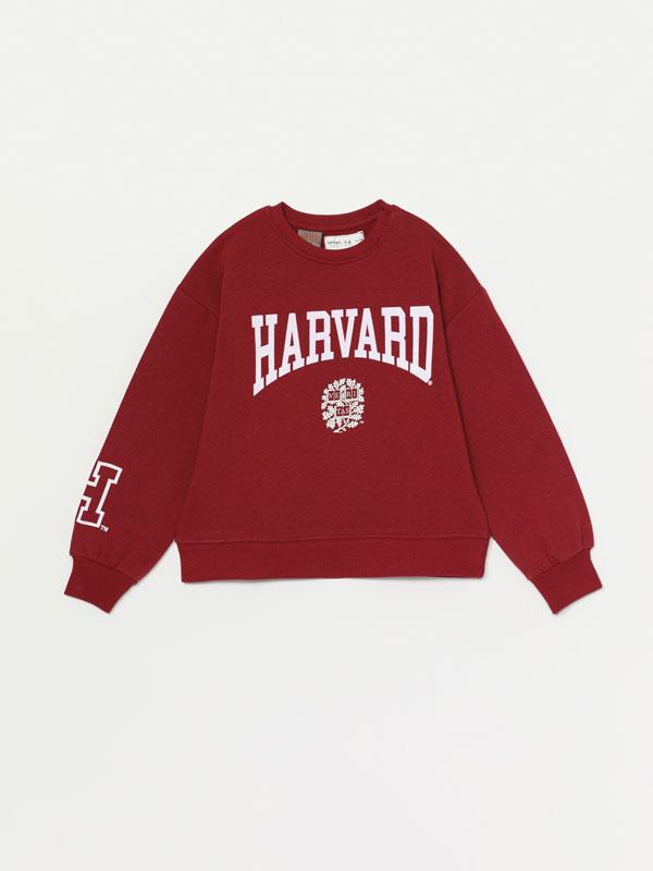 Dessuadora amb estampat de text Harvard ® University